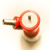 Кран пин-лок для газа зубчатый (pin lock gas in — barb) 1 шт